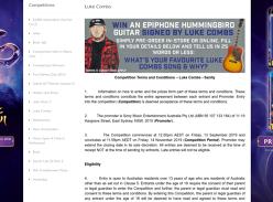 Win a Hummingbird Guitar