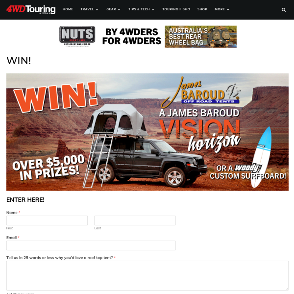 Win a James Baroud Vision Horizon rooftop tent!