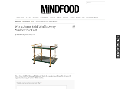 Win a James Said Worlds Away Maddox Bar Cart!