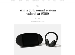 Win a JBL Sound System