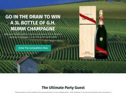 Win a Jeroboam of G.H. Mumm Cordon Rouge NV