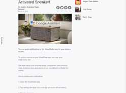 Win a Klipsch Voice Activated Speaker!