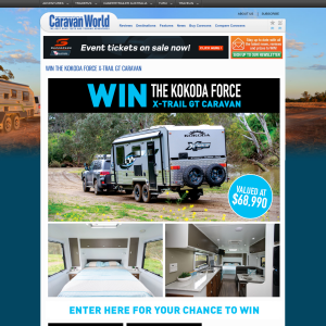 Win a Kokoda Force X-Trail GT Caravan, valued at $68,990!