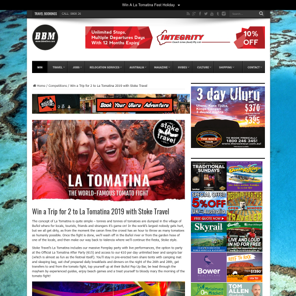 Win A La Tomatina Tour With Stoke Travel