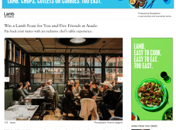 Win a Lamb Feast for You and Five Friends at Asado