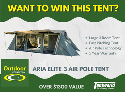 Win a Large 3 Room Tent