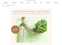 Win a Linen/Haircare/Plant-Based Food Prize Pack