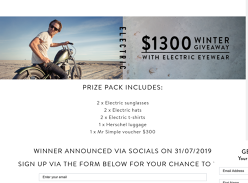 Win a Luggage/Apparel/Eyewear Prize Pack Worth Over $1,300