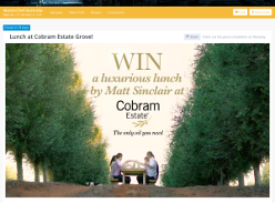 Win a luxurious lunch by Matt Sinclair at Cobram Estate!