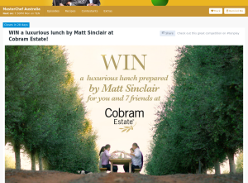 Win a luxurious lunch for you and 7 friends at the home of Cobram Estate