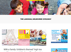 Win a luxury family childrens themed high tea glamping package at The Langham!