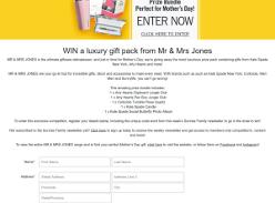 Win a luxury gift pack from Mr & Mrs Jones