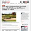 Win A luxury golf trip to play and stay at Bali National Golf Resort