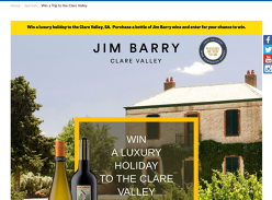 Win a luxury holiday to the Clare Valley SA!