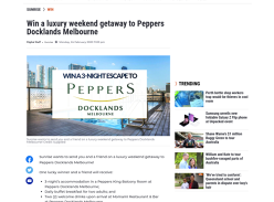 Win a luxury weekend getaway to Peppers Docklands Melbourne!