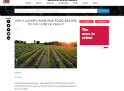 Win a Luxury Wine & Food Escape to the Hunter Valley