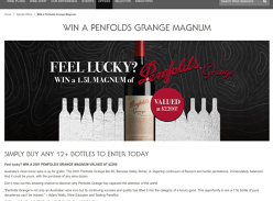Win a Magnum of Penfolds Grange Wine