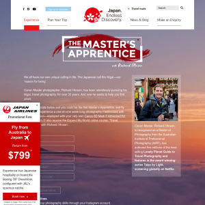 Win a Master's Apprentice Experience to Japan