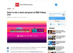 Win a meet & greet at RNB Fridays Live!
