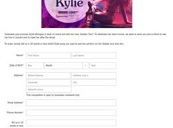 Win a meet & greet with Kylie Minogue