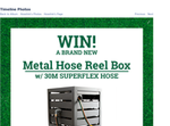 Win a Metal Hose Reel Box with a 30m Superflex Hose & Premium Ned Kelly Starter Kit