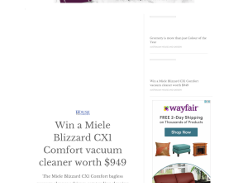 Win a Miele Blizzard CX1 Comfort Vacuum Cleaner