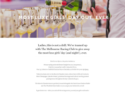 Win a Moet & Chandon Caulfield Cup Package for 4