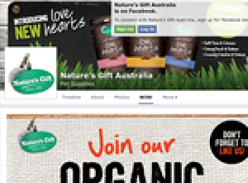 Win a months supply of 'Nature's Gift' organic dog food!