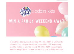 Win a My Little Pony themed family weekend away!