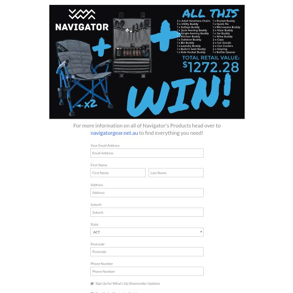Win a Navigator Prize Package Worth $1,272