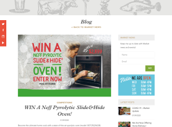 Win a Neff Pyrolytic Slide&Hide Oven!