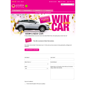 Win A New Car Priceline Sister Club Members ONLY