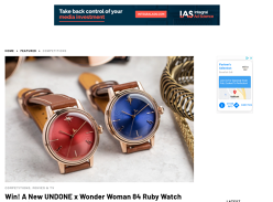 Win A New UNDONE x Wonder Woman 84 Ruby Watch