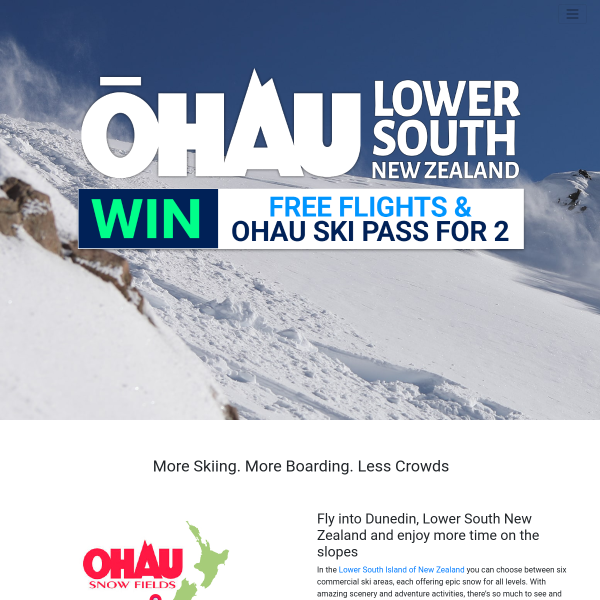 Win a New Zealand Ski Trip for 2