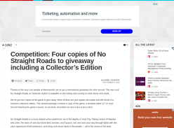 Win a No Straight Roads (Switch) Collector's Edition or 1 of 3 Regular Editions