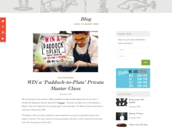 Win a 'Paddock-to-Plate' Private Master Class