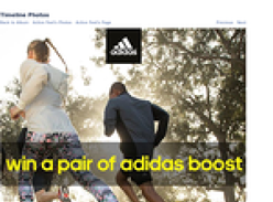 Win a pair of Adidas Boost sneakers!