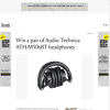 Win a Pair of Audio-Technica ATH-M50xBT Wireless Studio Headphones Worth $379