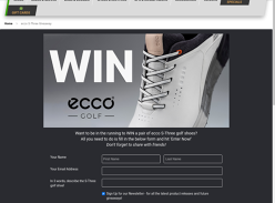 Win a Pair of ecco S-Three Golf Shoes