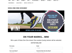 Win a pair of Hoka One One shoes!