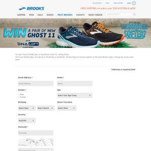 6389e6372fa Brooks - Win a pair of new Brooks Ghost 11 - Competitions.com.au