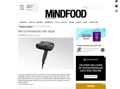 Win a Panasonic hair dryer!