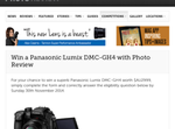 Win a Panasonic Lumix DMC-GH4 camera!