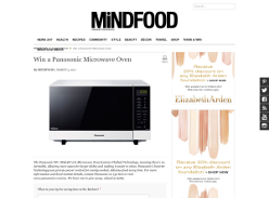 Win a Panasonic microwave oven!