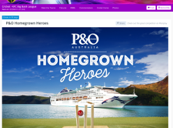 Win a P&O cruise for your Homegrown local cricket club Hero and for yourself