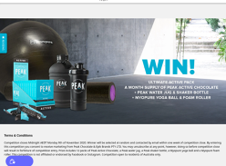 Win a Peak Active Chocolate & Merchandise Pack