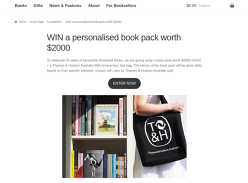 Win a personalised book pack!