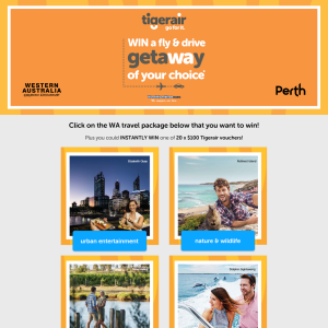 Win a Perth fly/drive experience of your choice