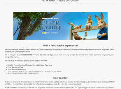 Win a Peter Rabbit experience