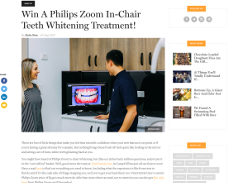 Win A Philips Zoom In-Chair Teeth Whitening Treatment